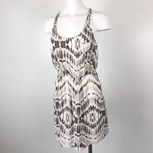 Express   Brown Earth Tone Cinch Waist Mini Dress